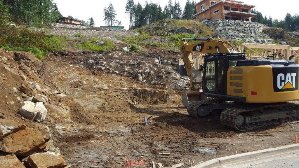 Squamish site preparation landscaping
